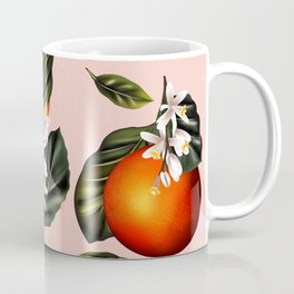 Citrus paradise. Tropical pattern with oranges Coffee Mug