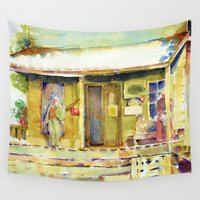 general Wall Tapestries featuring General  Store by Bowles Fine Paintings