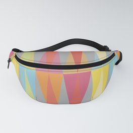 Party Argyle on Grey Fanny Pack