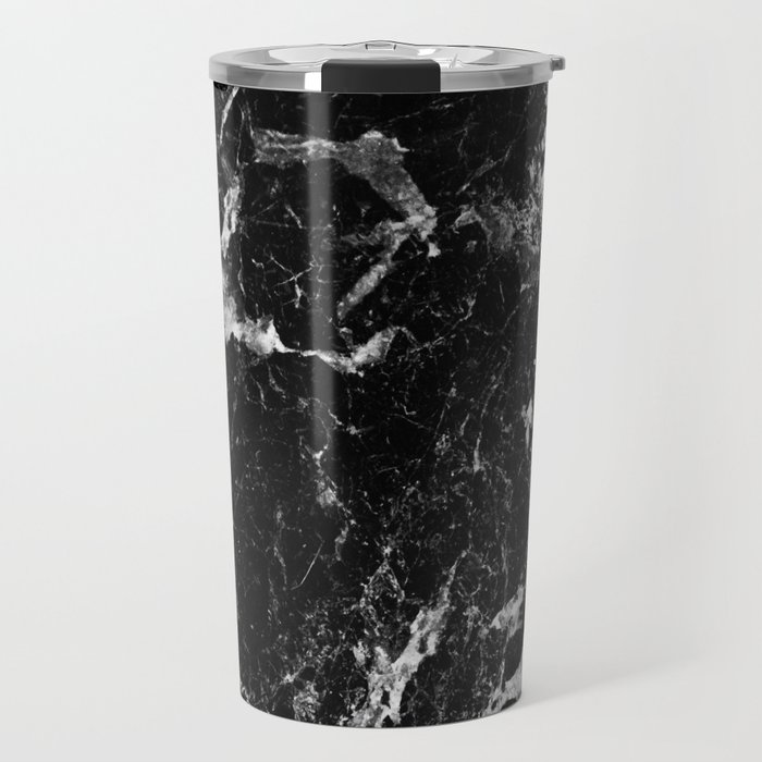 black white marble Travel Mug