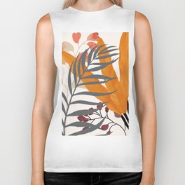 Colorful Red Leaves Biker Tank