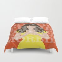 chuck Duvet Covers featuring Pushing Daisies - Chuck by MacGuffin Designs