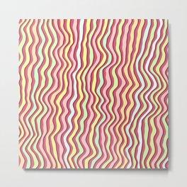 Noisy colorful stripes Metal Print