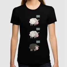 Rebel Sheep Womens Fitted Tee SMALL Black