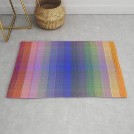 P003 Rainbow Plaid Rug