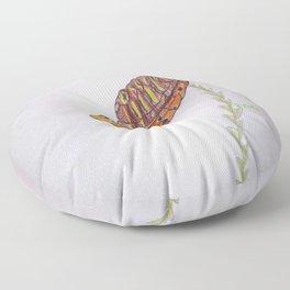 Red Eared Slider Turtle Floor Pillow