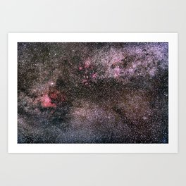 North America Nebula, the center of the Milky Way. Cysnus Constelation Art Print