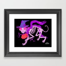 Skelecat Framed Art Print
