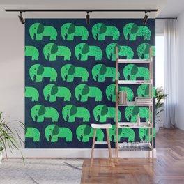 fluorescent elephant ecopop Wall Mural