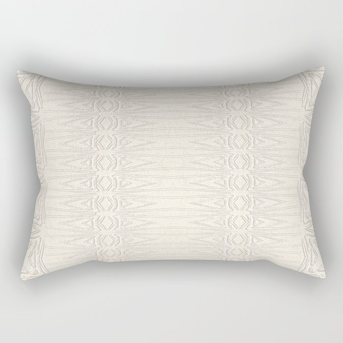Cream and Coffee Chenille Digital Pattern Rectangular Pillow