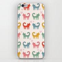 cartoons iPhone & iPod Skins featuring Cute color cats kitten cartoons by Maju Fernandez