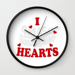 Demolition Derby I Smash Hearts Gift Wall Clock