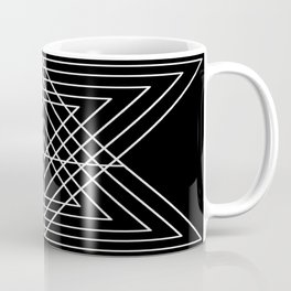 Overlapping Triangles ( Black & White) Coffee Mug