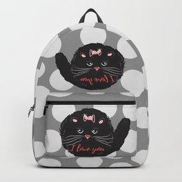 Cute kitty. I love you Backpack