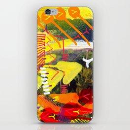 Wave yellow iPhone Skin