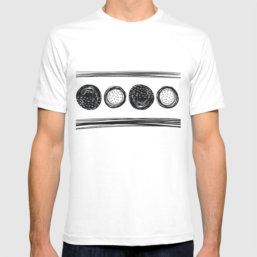 Black White One T-shirt by Karapeters TSR9062757