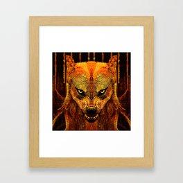 Canis Lupus I Framed Art Print