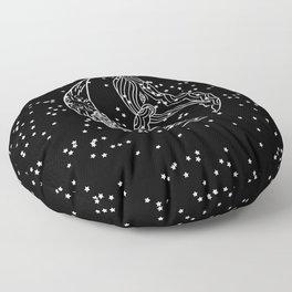 black whale Floor Pillow