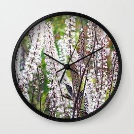 Bugbane forest. Wall Clock