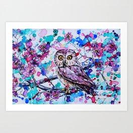 Little Owls version 3 Art Print