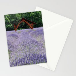 Calming Lavender Field Stationery Cards