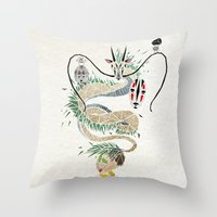 spirited away Throw Pillows featuring spirited away by Manoou