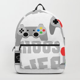 "Unique Nice Game Shirt For Gamers ""Choose Your Weapon"" T-shirt Design Console Video Computer Games Backpack"