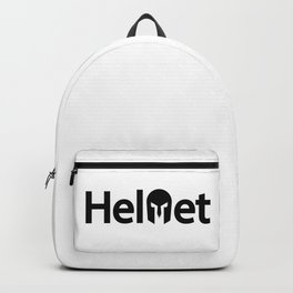 Helmet creative typography design  Backpack