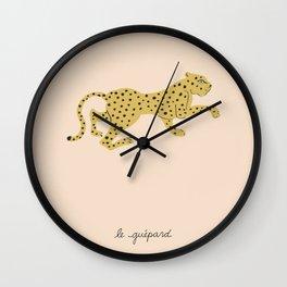 le guépard Wall Clock