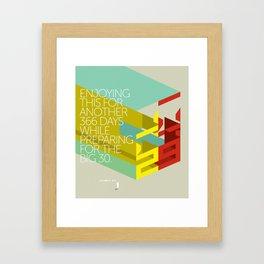Twenty nine Framed Art Print