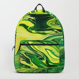 Elegant Crazy Agate 5 - Green and Yellow Backpack