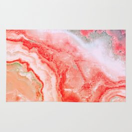Luxury Rose Gold Agate Marble Geode Gem Rug
