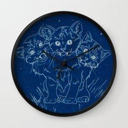 Cerberus as a Kitten Wall Clock