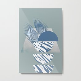 Blue Tiger Hiding On A Different Plane Metal Print