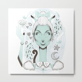 Femme Kitten  Metal Print