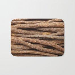 Liquorice root in straight lines Bath Mat