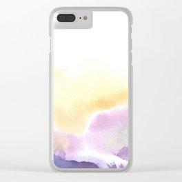 mountain fog Clear iPhone Case