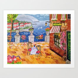 Cafe in Italy Art Print