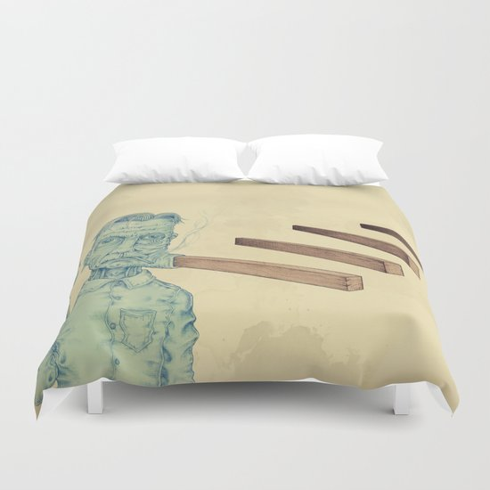 Flag Waver Duvet Cover