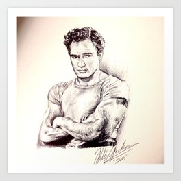 Young Marlon Brando Art Print