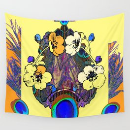 Decorative Modern Art Nouveau Peacock Floral Patterns Wall Tapestry