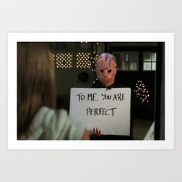 JASON VORHEES IN LOVE ACTUALLY Art Print