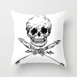 Skull and Squids Throw Pillow