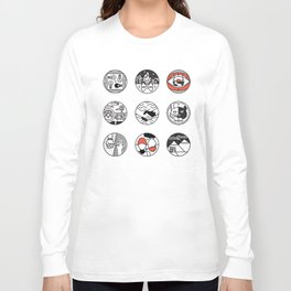 blurry icons Long Sleeve T-shirt