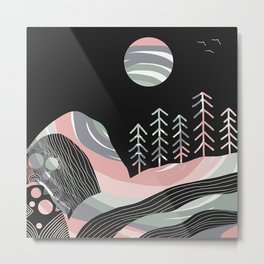 Night Mystery Metal Print