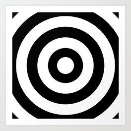 Target (White & Black Pattern) Art Print