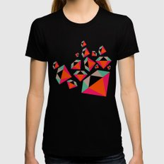 Diamonds Are A Girl's Best Friend Womens Fitted Tee Black SMALL
