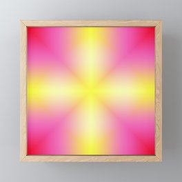 Yellow Cross Pink Star Framed Mini Art Print