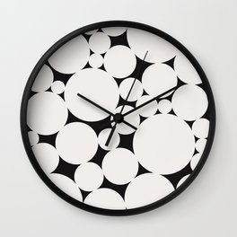 Circular Collage - Black & White II Wall Clock
