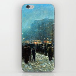 Childe Hassam Broadway and 42nd Street iPhone Skin